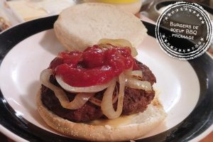 Burgers de boeuf BBQ fromage