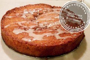 Gâteau aux pêches glacé à la vanille