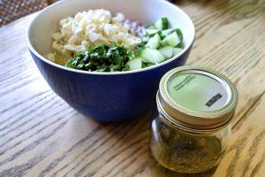 Salade de quinoa, concombre et feta