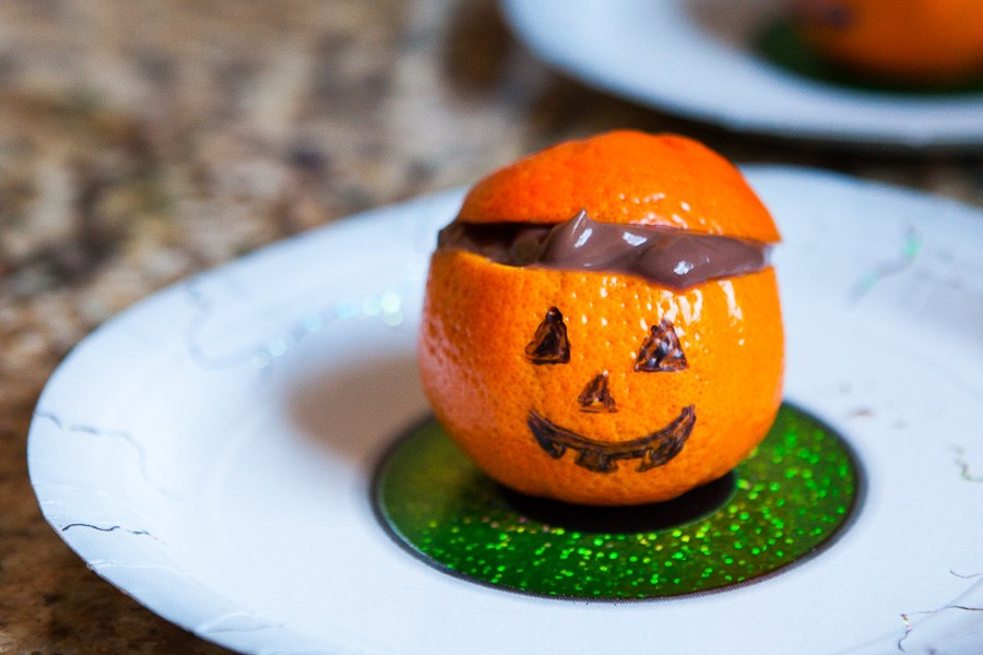 Collation Halloween pudding