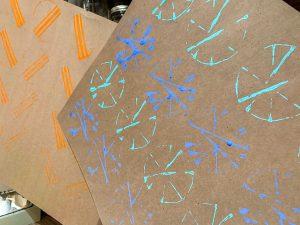 Modèle de papier d'emballage maison