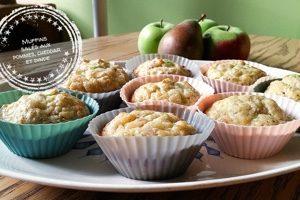 Muffins salés aux pommes, cheddar et dinde
