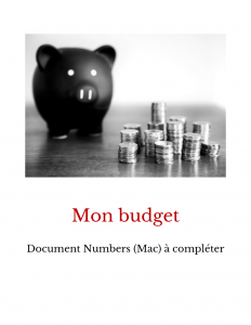 Budget format Numbers pour Mac