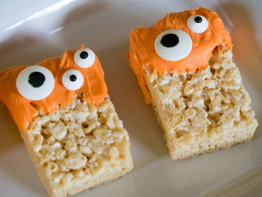 collations Halloween rice krispies