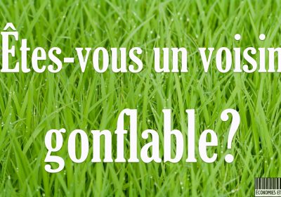pelouse voisin gonflable