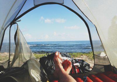 tente plein air usagé